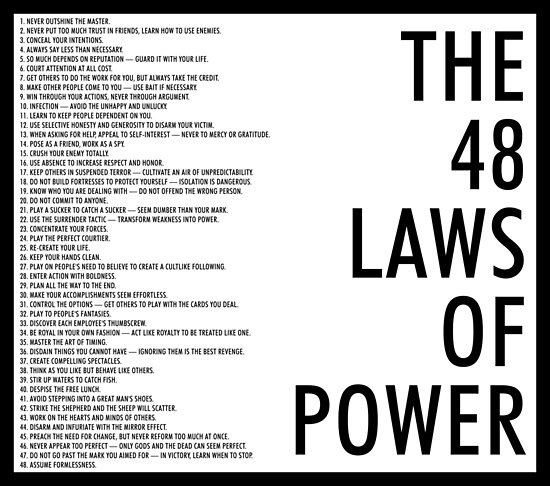 48 rules of power review