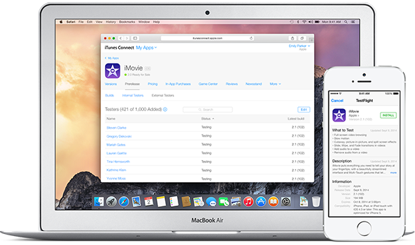 beta app review itunes connect