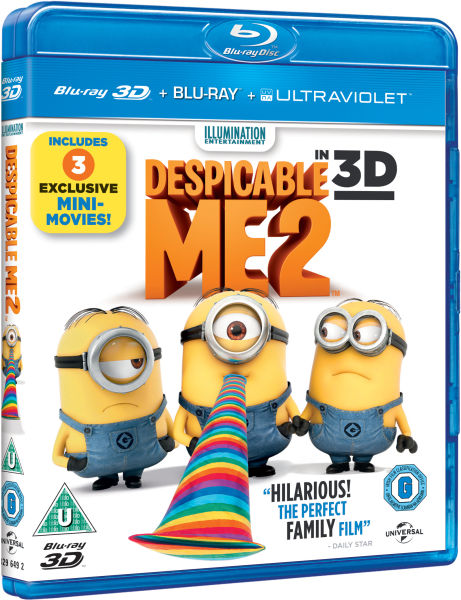 despicable me 2 blu ray review