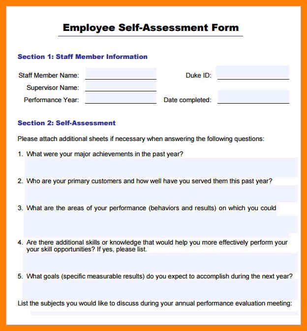 employee goals examples performance review